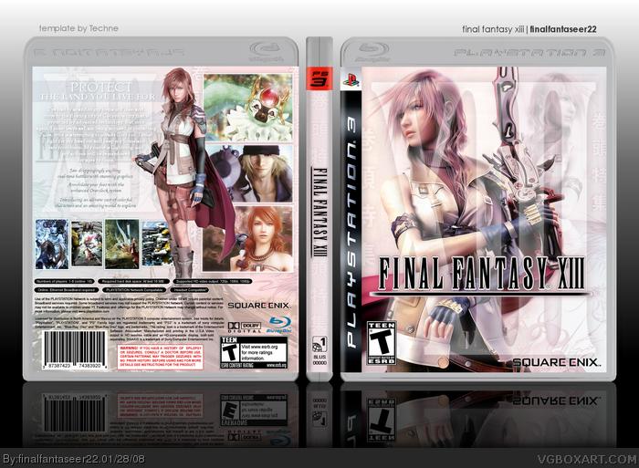 Final_Fantasy_XIII_Box_art_by_ice_king25
